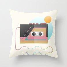 Summer Rhythm Throw Pillow