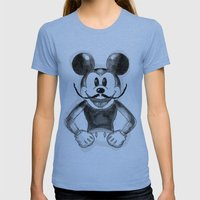 Hey Mickey Womens Fitted Tee Athletic Blue SMALL