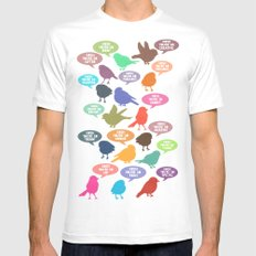 Birdsong Gosh Quotes by Rachel Burbee & Garima Dhawan SMALL Mens Fitted Tee White