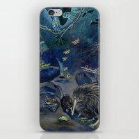 Kiwi, Bats, Morepork and More iPhone & iPod Skin