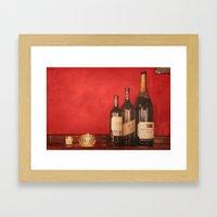 Wine on the Wall Framed Art Print