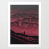 Sleeping Town Art Print
