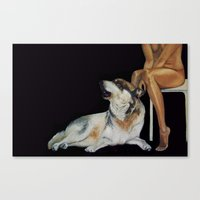 In The Company Of Wolf Canvas Print