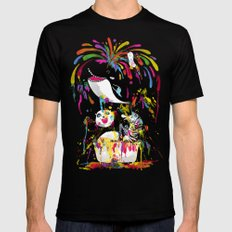 Yay! Bath Time! Black SMALL Mens Fitted Tee