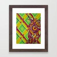 Green Owl Framed Art Print