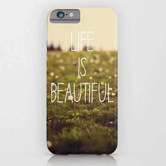 Life is Beautiful (Dandelion) iPhone & iPod Case