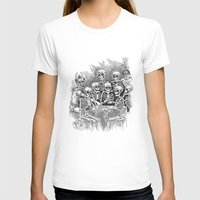 Gathered Remains Womens Fitted Tee White SMALL