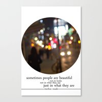 people are beautiful Canvas Print