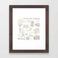 I {❤} Travel Framed Art Print