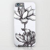 Magnolia in black and white iPhone 6 Slim Case