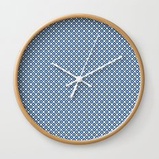 kanoko in monaco blue Wall Clock