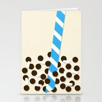 Milk Tea W/ Boba & Lyche… Stationery Cards