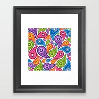 Crazy Paisley Framed Art Print