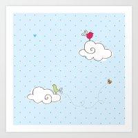 cotton cloud Art Print