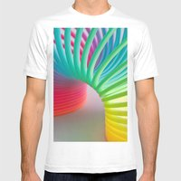 Rainbow Spring Mens Fitted Tee White SMALL
