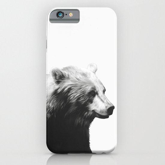 Bear // Calm (Black + White) iPhone & iPod Case