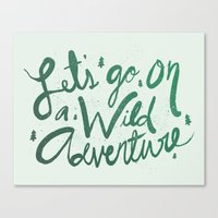 Wild Adventure Type Canvas Print