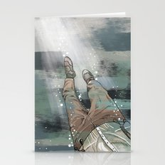 Sinking Man Stationery Cards