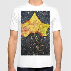 Autumn Leaf Mens Fitted Tee SMALL White