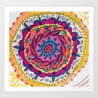 Third Chakra Mandala Art Print