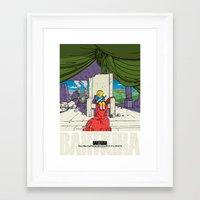 Bartkira / Neo-Springfield Poster  Framed Art Print
