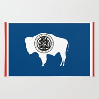 wyoming state flag united states of america country Rug