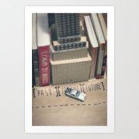 Delorean Rides Art Print