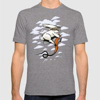 Hare Dryer Flyer Mens Fitted Tee Tri-Grey SMALL