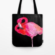 Fancy Flamingo Tote Bag