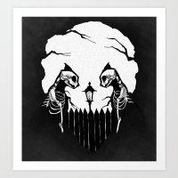 Cat Skulls Art Print