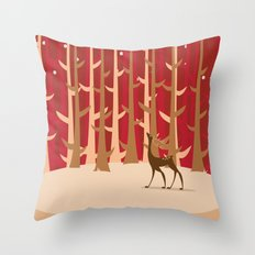 Christmas Reindeer. 1 Throw Pillow