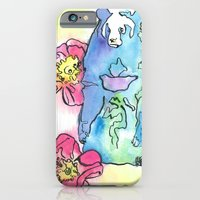 iPhone & iPod Case featuring Spring Rose Bear by Monika Jean