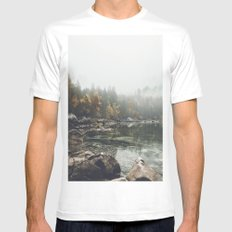 Serenity - Landscape Photography SMALL White Mens Fitted Tee