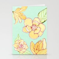 Summer flowers blue Stationery Cards