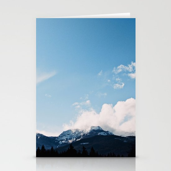 Clouds over the Mountains Stationery Card