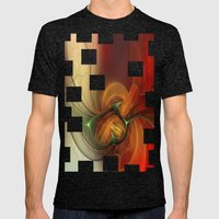 Sunset Abstract Mens Fitted Tee Tri-Black SMALL