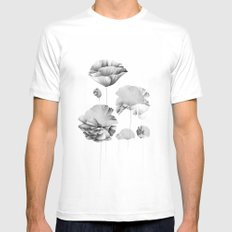 Poppy SMALL White Mens Fitted Tee