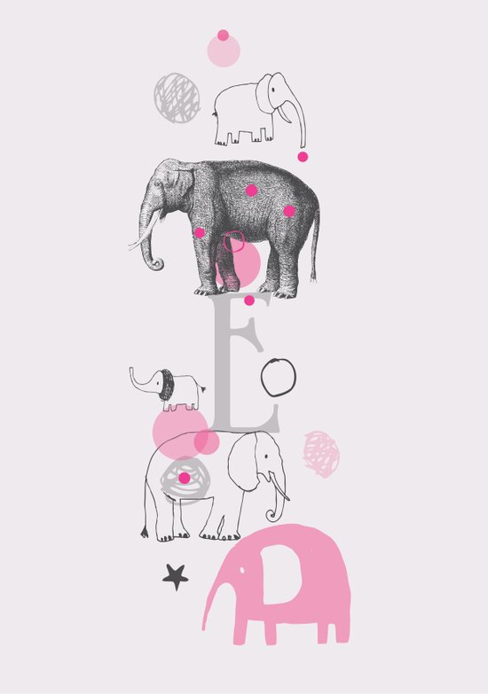 Elephants Circus Art Print