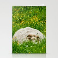 Sheep in the grass Stationery Cards