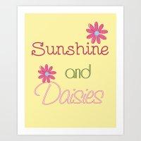 Sunshine And Daisies Art Print