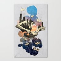 Lake and Sky Canvas Print