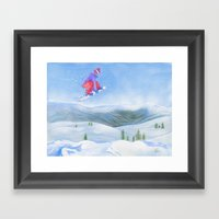 Winter Flight - Drawing … Framed Art Print