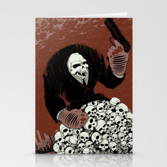 Monkey Skull Suit Stationery Card