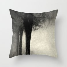 Twins in the Forest Throw Pillow
