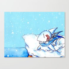 Seaside Snowfall Canvas Print