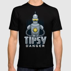 Tipsy Danger Black SMALL Mens Fitted Tee