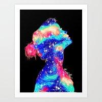 Galaxy Girl II Art Print
