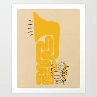 Tuba Bug Art Print