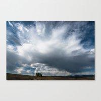 Cloudscape over Farm Fields Canvas Print