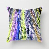 Wax #6 Throw Pillow